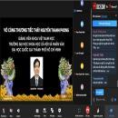 Xúc động lễ truy điệu online cho một giảng viên trẻ qua đời vì COVID-19